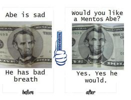Contest: Mentos and Abe by MnesomnesTears