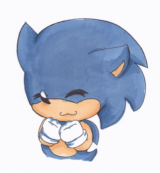 Sonic with Copics by LeniProduction