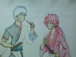 Colored Version (Gintoki and Kenshin) by J-VICTOR
