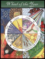 Wheel of the Year by jezebelwitch