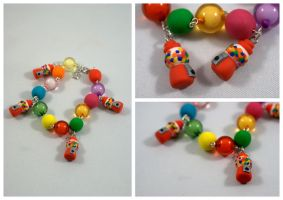 Gumball Machine Bracelet by Sandien
