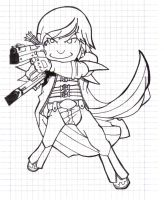 Chibi Dante_VJ inspired_BW by TheDarkWisher