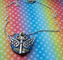 Winged Key Steampunk Necklace by CraftMagic
