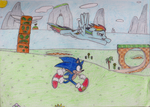 Sonic and Dash Green Hill Zone by YotesGames