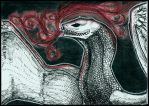 ACEO - smiley-i (.:Dancing in a red smoke:.) by DarkAfi4
