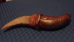 dragon claw dagger with patina by SmileyVamp