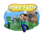 Steve Party (minecraft mario party) by Chaos55t