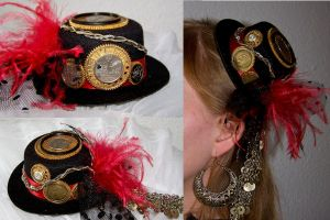 Steampunk Fascinator Hat by SinScho
