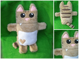 Gold Kitty plush by starry-eyedkid