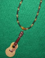 Acoustic guitar necklace by ladytech