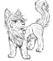 wolf oc sketch -gift by P0CKYY