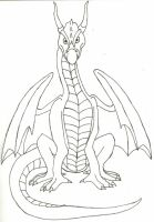 Dragon front view by The-Blue-Dragon