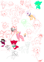 sketch and art dump by SugarrCane