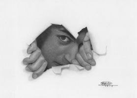 'Through' Graphite Drawing by pesterhugo