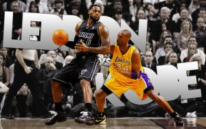 LeBron Vs. Kobe by Mrfletch1000