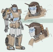 Mecha doodles III - JK as a TF by juzo-kun