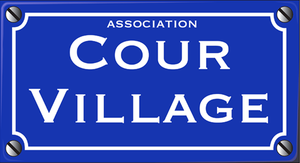 Logo association cour village by myxomy