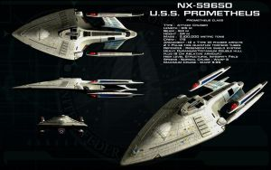 Prometheus class ortho - USS Prometheus - Sheet 1 by unusualsuspex
