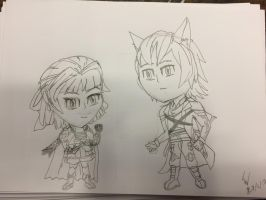 PTCH Chibi Azura and Ashton by metalsonic612