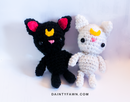 Luna and Artemis Amigurumi by tiny-moon