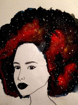 The Universe in her head  by judiii