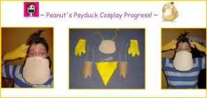 Psyduck cosplay progress by Froodals