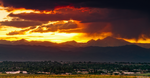 Fire Above Longs Peak by kkart
