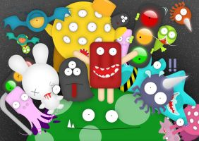 Monsters Rule teh World by JumpinJelly