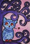 Blue Chibi Owl by Roky320