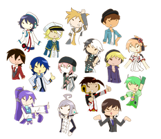 Vocaloid Guys by sweets-nokami