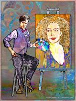 River Song and the Doctor - A Work of Art by evisionarts