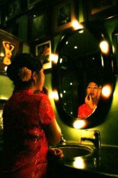 cherry in the mirror by tanintan