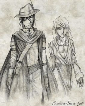The Brothers Saito by animescape
