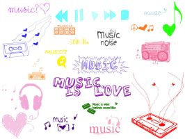 Music Brushes by Fantasticalicious-xX