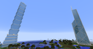 Minecraft - BOC Tower and Taipei 101 by MinecraftArchitect90