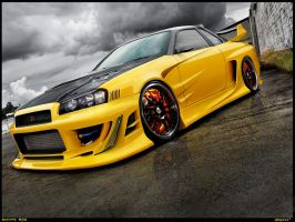 Nissan Skyline R34 by Wrofee