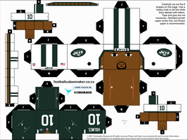 Santonio Holmes Jets Cubee by etchings13