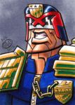 Judge Dredd Sketch Card by Chad73