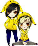 Chibi : Coline And Kevin by LittleSekhmet