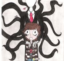 Alfredito and SlenderMan by Martu-RW