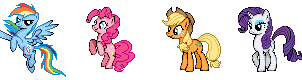 MLP Mane Cast Sprites by Kevfin