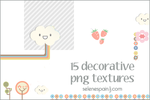 15 decorative png textures by SeleneSpain