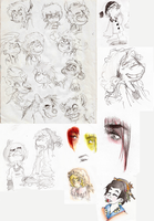 Sketch Dump - Sketches over the week by OpticBlast00