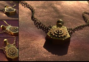 Brass Perfume Bottle Necklace by hrekkjavakaastarkort