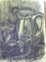 Charcoal still life by Professor-Kirby
