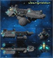 Ubergridder spaceship by henning