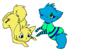 Blue and Yellow by Painted-Terror