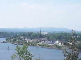 a view of a town in quebec by bunnyluvable