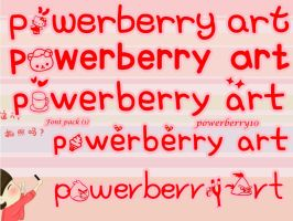 Font Pack (1) by PowerBerry10