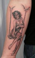 Pin up swing Tattoo by 2Face-Tattoo